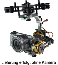 Brushless Gimbal 2-Achs mit Alex Mos Board V2.2